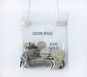 20c coin bag close up
