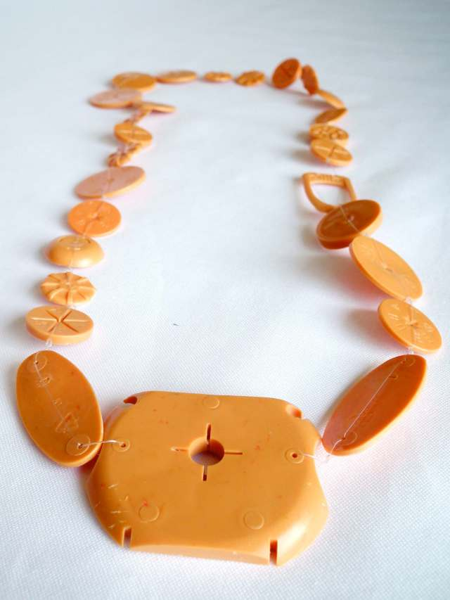 orange necklace small